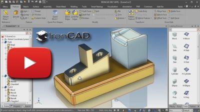 IRONCAD - Prispôsobiť povrch