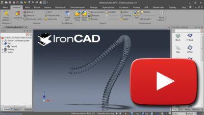 IRONCAD - Príklad tvorby geometrie telefónneho kábla