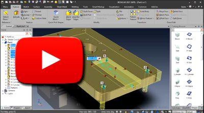 IRONCAD Tip - úpravy intellishape tvarov a dier